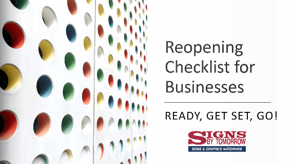 Reopening Checklist for Businesses by Signs By Tomorrow