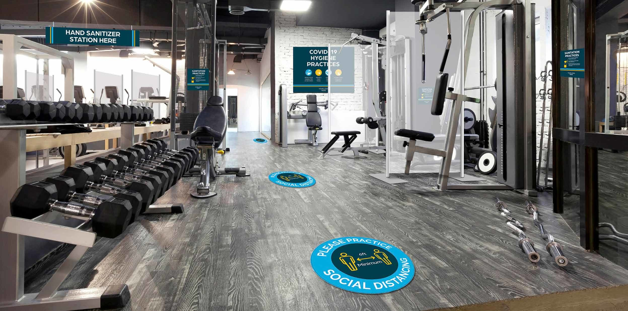 Fitness Center Reopening Signs