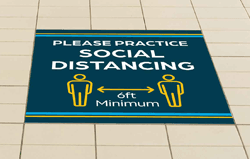 Floor Graphics For Practicing Social Distancing