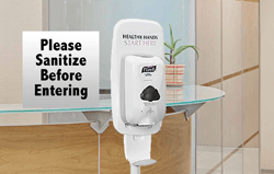 Hand Sanitizer Station With Sanitize Sign