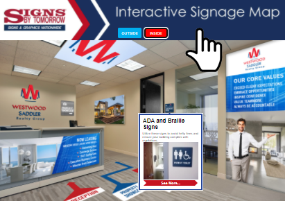 Interactive Signage Map