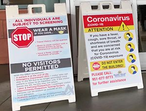 Coronavirus A-Frame Safety Signs