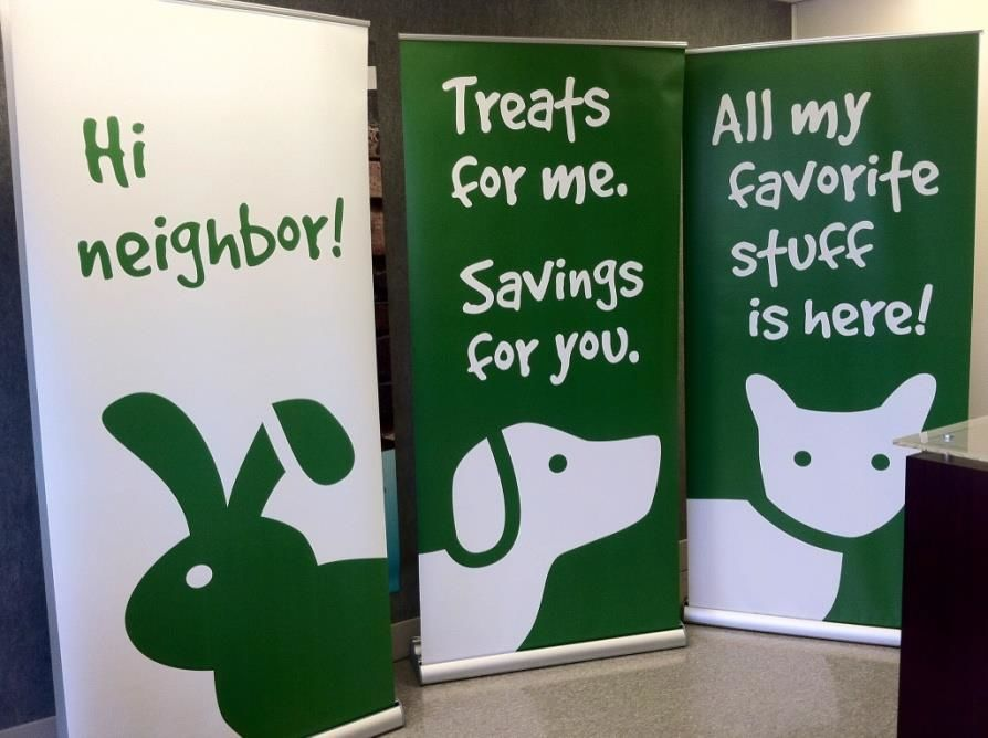 Animal Banner Stands