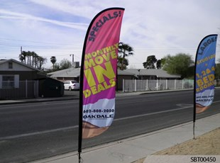 For Rent Custom Feather Banner