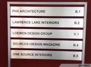 Metal Interior Directory Sign