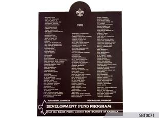 Recognition Cast Plaque