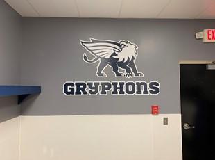 Wall Graphics & Murals | Schools, Colleges & Universities | Lynchburg, VA locer room graphic