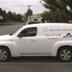 Vehicle Graphics for E. C. Delivery Service