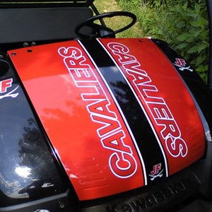 Hood Wrap and Graphics on JF's Kawasaki Mule