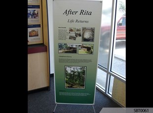 Hurricane Rita Banner Stand