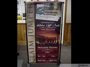 Claim Jumper Indoor Fabric Banner