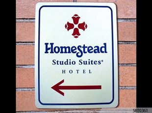 Homestead Suites Directional Metal Sign