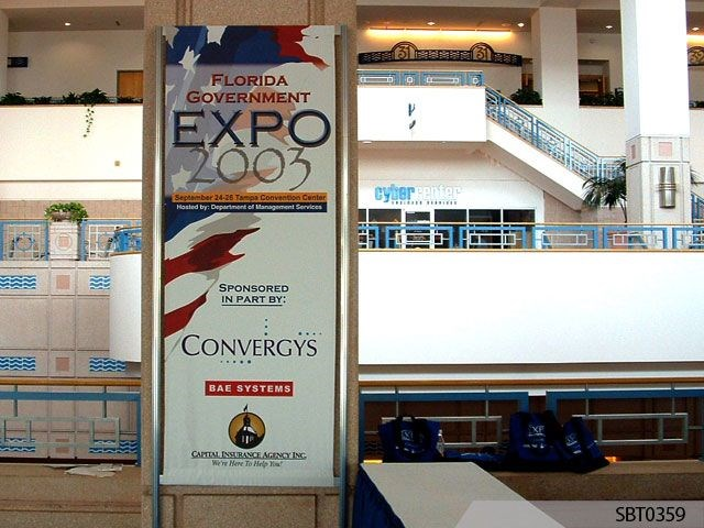 Gov't Expo Sign & Freestanding Frame