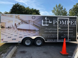 Vehicle Lettering & Graphics | Construction | Newport News, Virginia, Pompei