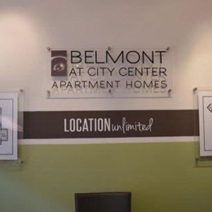 3-Dimensional Letters on Acrylic with standoffs - Belmont at City Center, Newport News, VA