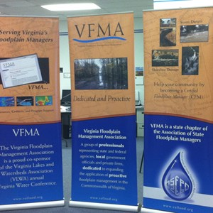 Display Retractable Banners - Virginia Flood Plains