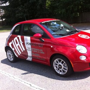 Vehicle Wrap - POMOCO Red Fiat