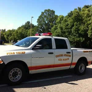 Vehicle Lettering - Langley Air Force Fire Chief Truck