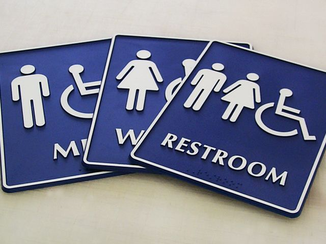 Bathroom Signs With Braille ada signs