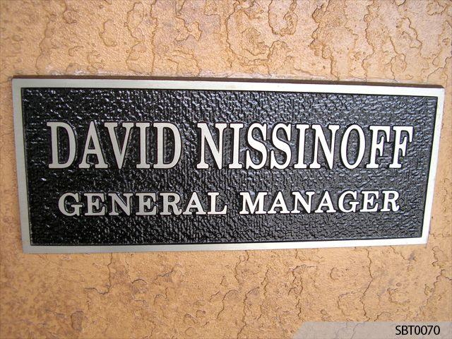 Exceptional Directional Cast Plaque Congressman ...