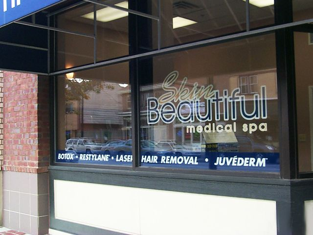 Outdoor Vinyl Window Graphics  Lettering Vinyl Signs - Custom vinyl sign graphics   removal options