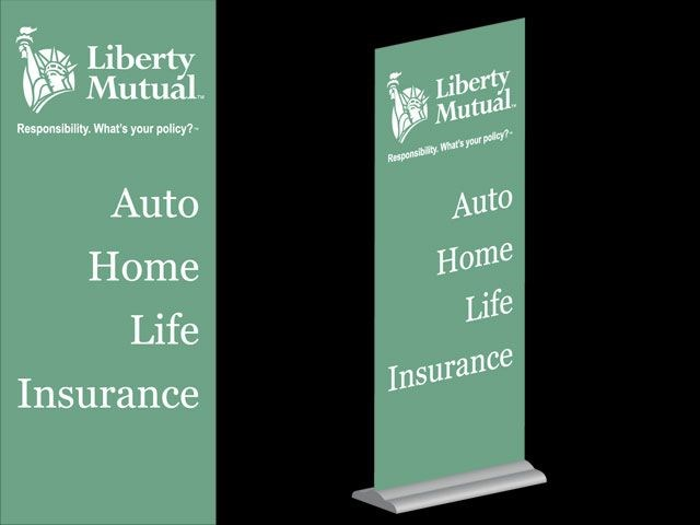 Liberty Mutual Banner Stand