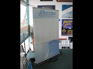48 wide retractable banner stand with graphics
