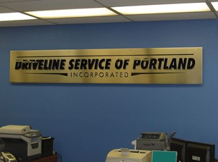 dimensional lettering and PSL vinyl on panel