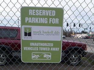 Dentistry Parking Lot Sign