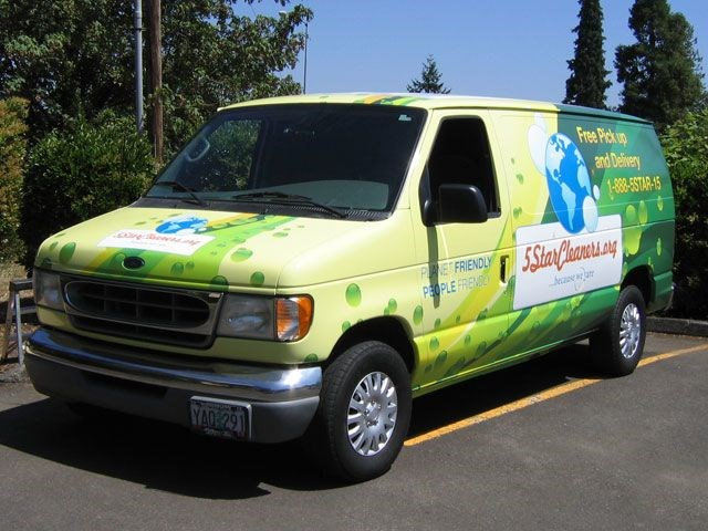 5 Star Cleaners Van Wrap