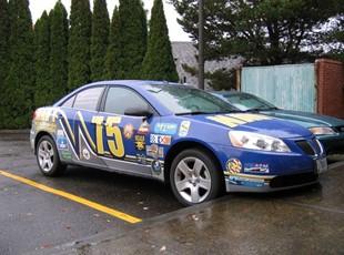 NAVY car wrap