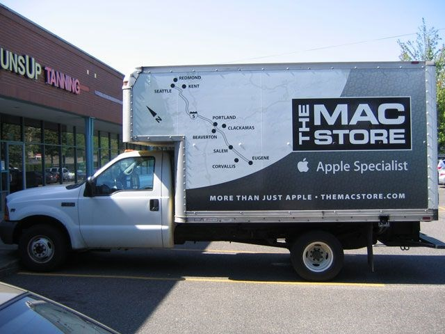 MAC Store Box Truck Wrap