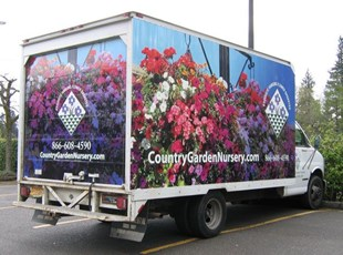 Country Garden Nursery Box Truck Wrap