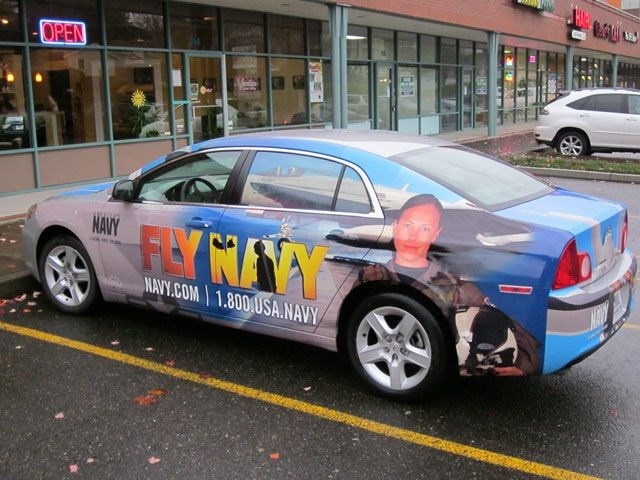 Navy - Malibu vehicle wrap