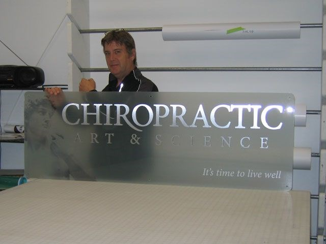 Large, Dimensional, Wall Graphics - Chiropractic Art & Science
