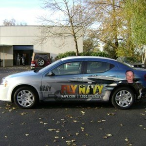 US NAVY sedan wrap