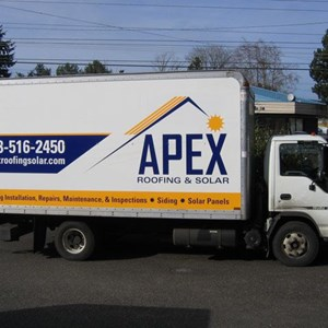 Vehicle Graphics and Logo Design - Box Truck - APEX