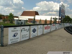 High School Athletics Plastic Sponsor Signs