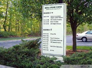 Wood Pylon Sign