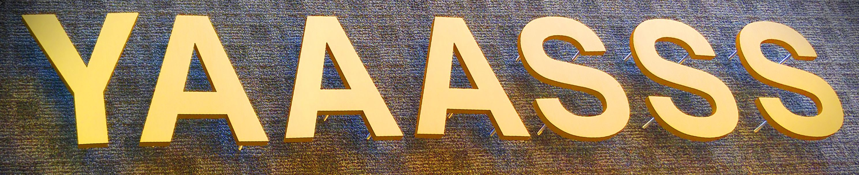 3D Letters, Rockville, Brushed gold letters