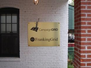Campaign Grid Gold Aluminum Plaque