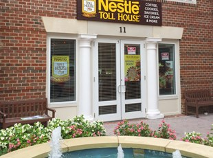 Exterior Carved HDU Sign panel for Nestle Toll House Cafe