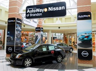 Fabric Print with Custom Frames for Auto Way Nissan of Brandon in Tampa, FL
