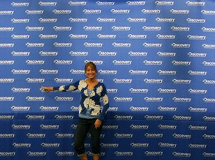 Large Fabric Print Step & Repeat Backdrop Banner for the Discovery Channel
