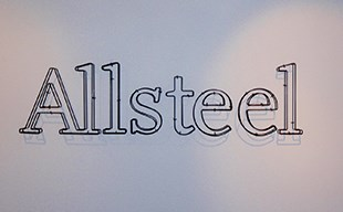 Lobby Logo with Standoffs for Allsteel