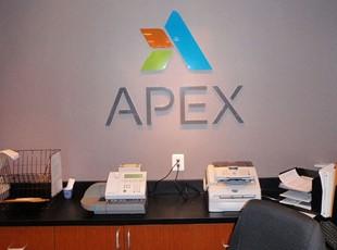 Acrylic Lobby Logo for APEX