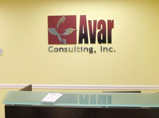 Dimensional Lobby Logo for Avar Consulting, Inc.