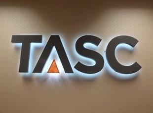 3D Halo Lit Logo for TASC in Maryland