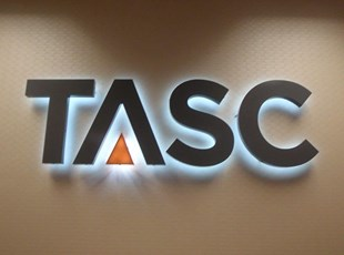 3D Halo Lit Logo for TASC in Maryland