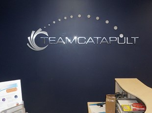 Dimensional Lettering Lobby Logo for Team Catapult in Bethesda, MD